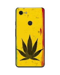 Marijuana Rasta Distressed Google Pixel 3 XL Skin