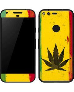 Marijuana Rasta Distressed Google Pixel Skin