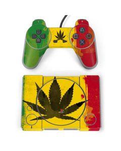 Marijuana Rasta Distressed PlayStation Classic Bundle Skin
