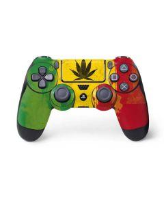 Marijuana Rasta Distressed PS4 Controller Skin