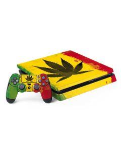 Marijuana Rasta Distressed PS4 Slim Bundle Skin