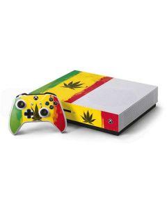 Marijuana Rasta Distressed Xbox One S Console and Controller Bundle Skin