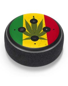 Marijuana Rasta Flag Amazon Echo Dot Skin
