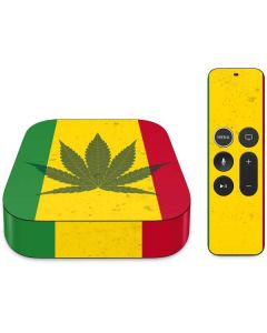 Marijuana Rasta Flag Apple TV Skin