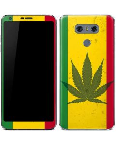 Marijuana Rasta Flag LG G6 Skin