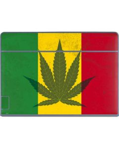 Marijuana Rasta Flag Galaxy Book Keyboard Folio 12in Skin