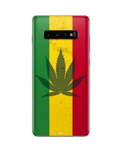 Marijuana Rasta Flag Galaxy S10 Plus Skin
