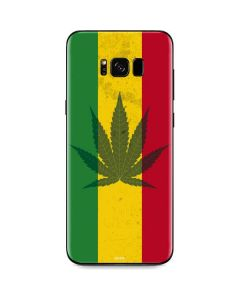 Marijuana Rasta Flag Galaxy S8 Skin