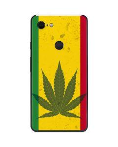 Marijuana Rasta Flag Google Pixel 3 XL Skin