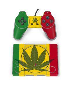 Marijuana Rasta Flag PlayStation Classic Bundle Skin