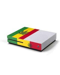 Marijuana Rasta Flag Xbox One S Console Skin