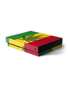 Marijuana Rasta Flag Xbox One X Console Skin