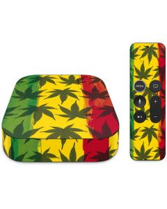 Marijuana Rasta Pattern Apple TV Skin