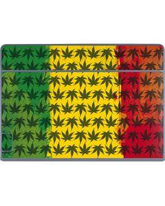 Marijuana Rasta Pattern Galaxy Book Keyboard Folio 12in Skin