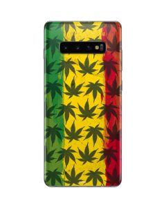 Marijuana Rasta Pattern Galaxy S10 Plus Skin