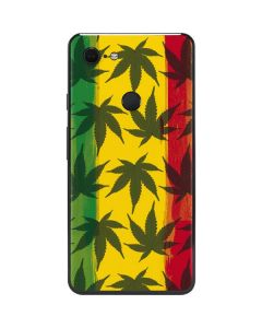 Marijuana Rasta Pattern Google Pixel 3 XL Skin