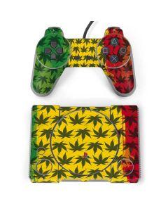 Marijuana Rasta Pattern PlayStation Classic Bundle Skin