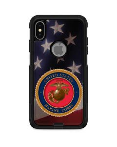 Marine Corps American Flag Logo Otterbox Commuter iPhone Skin