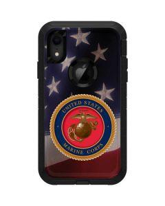 Marine Corps American Flag Logo Otterbox Defender iPhone Skin