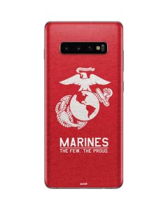 Marines Red Distressed Galaxy S10 Plus Skin