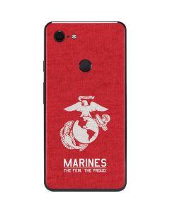 Marines Red Distressed Google Pixel 3 XL Skin
