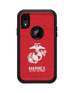Marines Red Distressed Otterbox Defender iPhone Skin