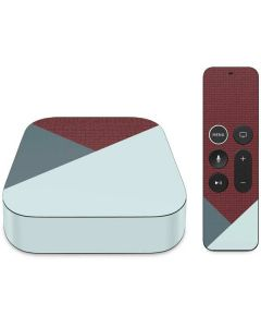 Marsala Triangle Shapes Apple TV Skin