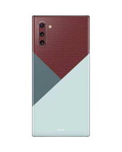 Marsala Triangle Shapes Galaxy Note 10 Skin