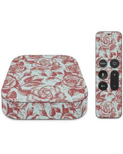 Marsala White Rose Apple TV Skin
