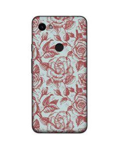Marsala White Rose Google Pixel 3a Skin