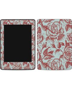 Marsala White Rose Amazon Kindle Skin