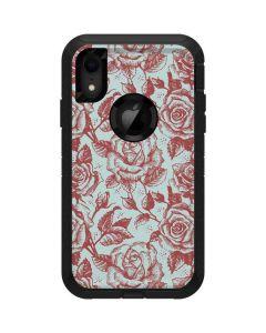 Marsala White Rose Otterbox Defender iPhone Skin