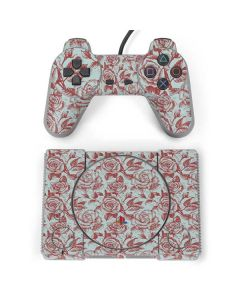 Marsala White Rose PlayStation Classic Bundle Skin
