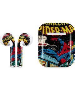 Marvel Comics Spiderman Apple AirPods Skin