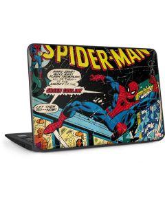 Marvel Comics Spiderman HP Chromebook Skin