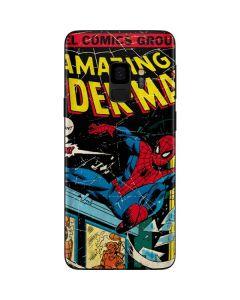 Marvel Comics Spiderman Galaxy S9 Skin