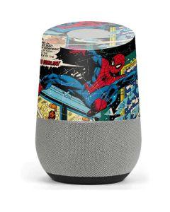 Marvel Comics Spiderman Google Home Skin