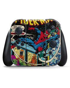 Marvel Comics Spiderman Nintendo Switch Joy Con Controller Skin