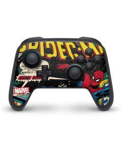 Marvel Comics Spiderman Nintendo Switch Pro Controller Skin