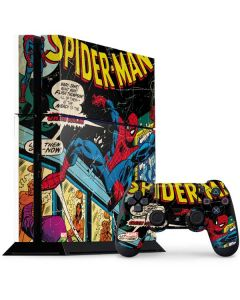 Marvel Comics Spiderman PS4 Console and Controller Bundle Skin