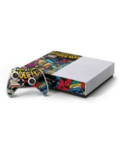 Marvel Comics Spiderman Xbox One S Console and Controller Bundle Skin