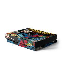 Marvel Comics Spiderman Xbox One X Console Skin