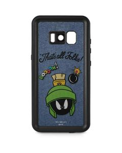 Marvin Thats All Folks Galaxy S8 Waterproof Case