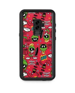 Marvin the Martian Patches Galaxy S9 Plus Waterproof Case