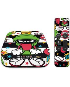 Marvin the Martian Striped Patches Apple TV Skin