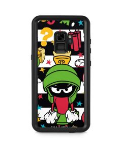 Marvin the Martian Striped Patches Galaxy S9 Waterproof Case