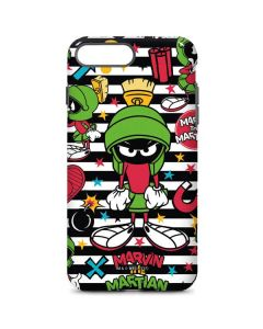 Marvin the Martian Striped Patches iPhone 8 Plus Pro Case