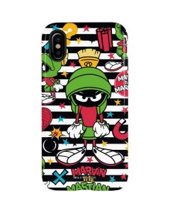 Marvin the Martian Striped Patches iPhone XS Max Pro Case