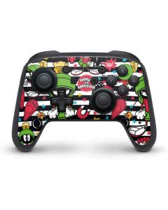 Marvin the Martian Striped Patches Nintendo Switch Pro Controller Skin