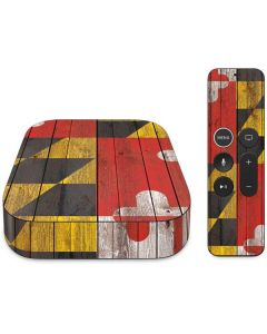 Maryland Flag Dark Wood Apple TV Skin